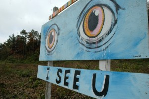 i see u gatsby eyes sign moreland blackcattips kyle brooks art