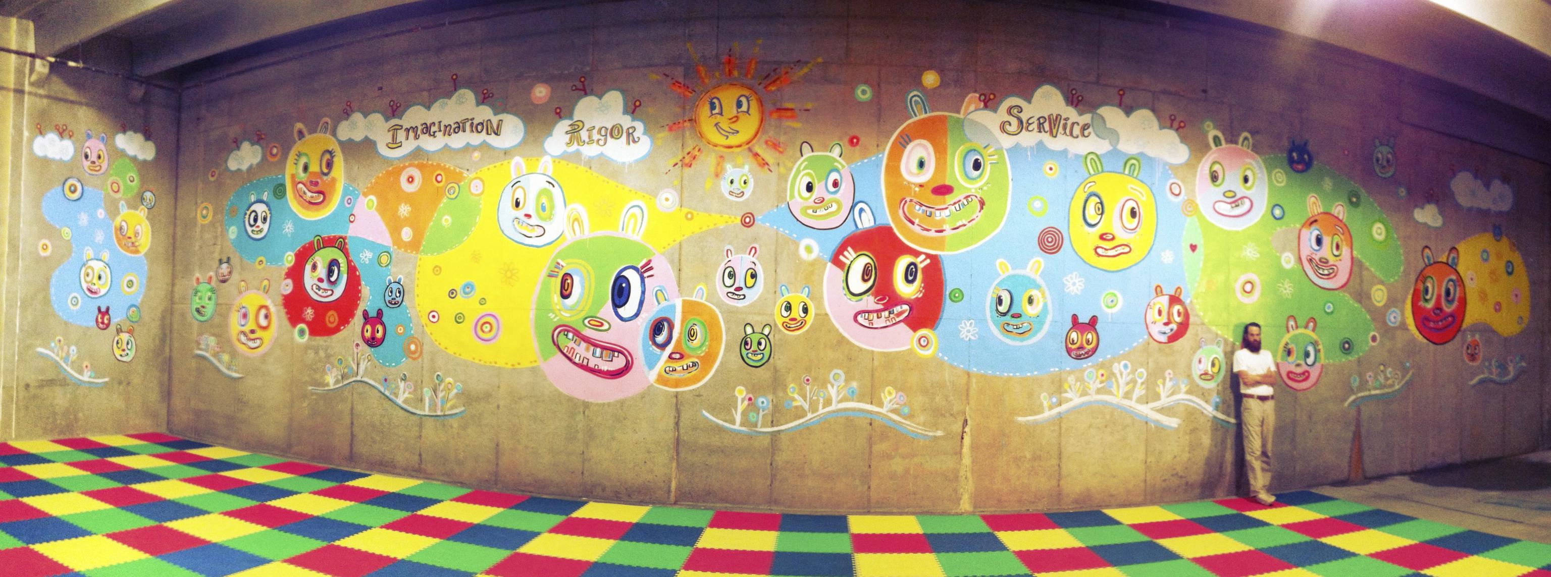 The bunker bears westside atlanta charter school mural for Atlanta mural artist