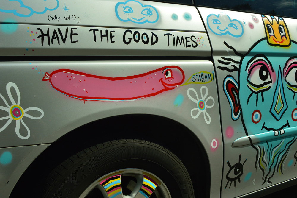 have the good times - sam sausage says shaazam van