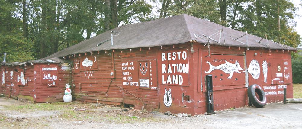 thomasville cemetery - mural - blackcattips 2060 restorationland