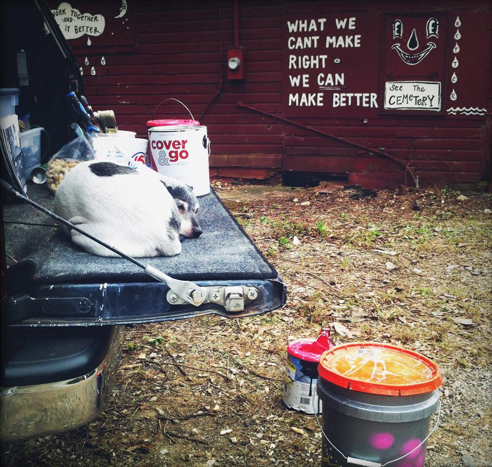 thomasville cemetery - mural - blackcattips 2092 pup