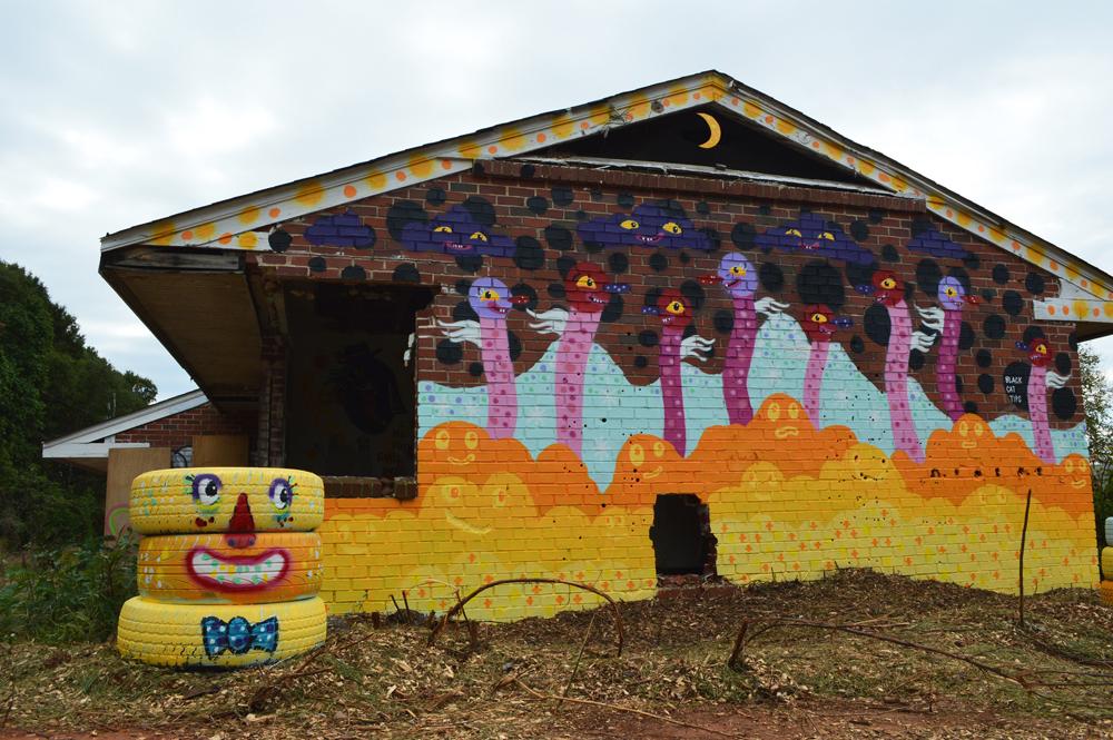 urban sprouts - sproutmen mural - blackcattips -  art atlanta street folk