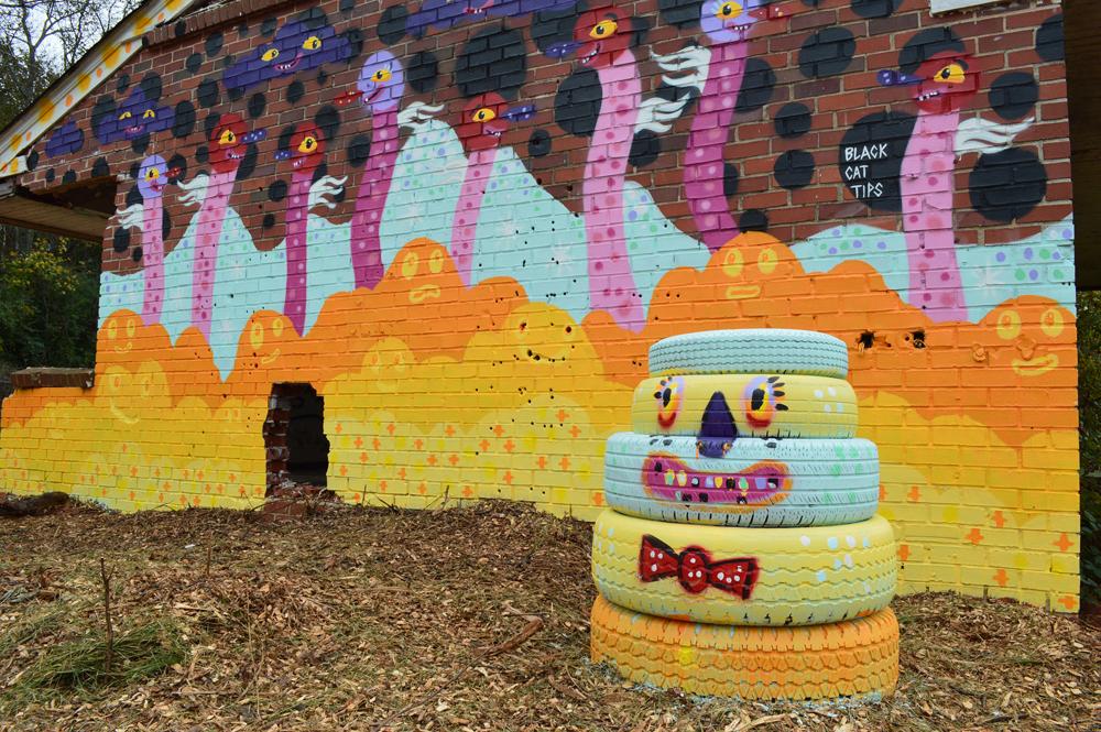 urban sprouts - sproutmen mural - blackcattips - street art phoenix fest