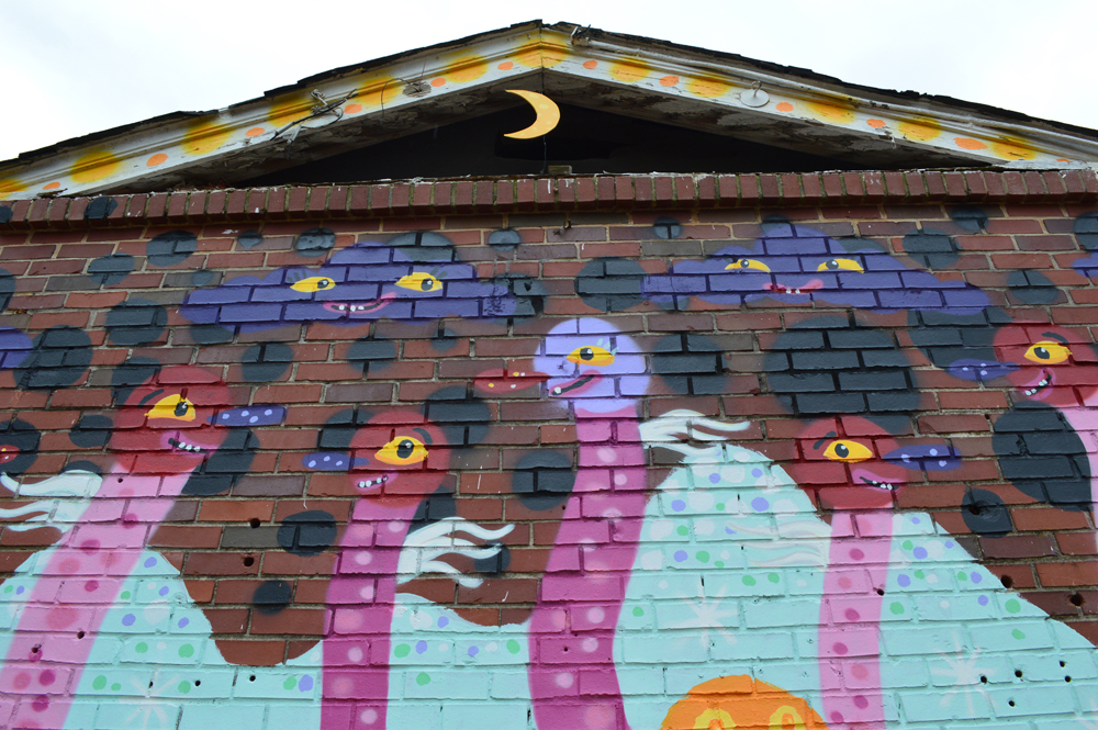 urban sprouts - sproutmen mural - blackcattips - crescent moon atlanta