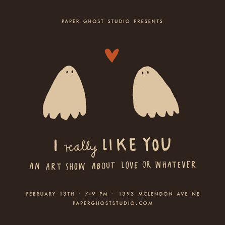 flyer_likeyou_show paper ghost
