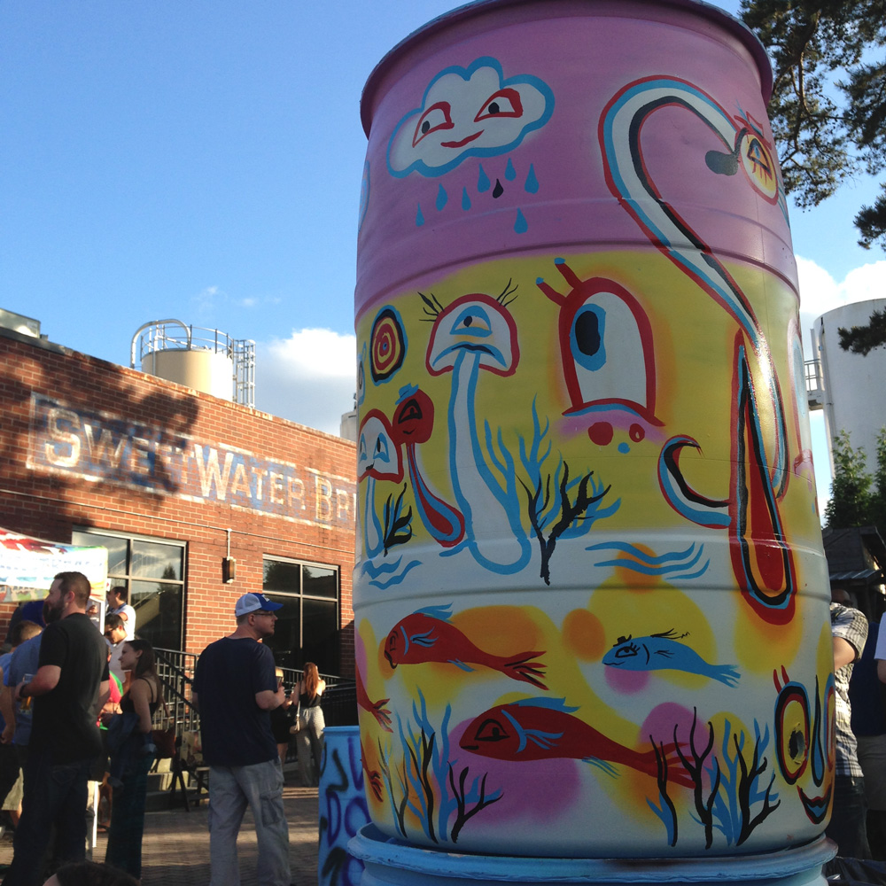 painting-at-sweetwater-brewery-blackcattips-kyle-brooks-4-street-folk-rain-barrel