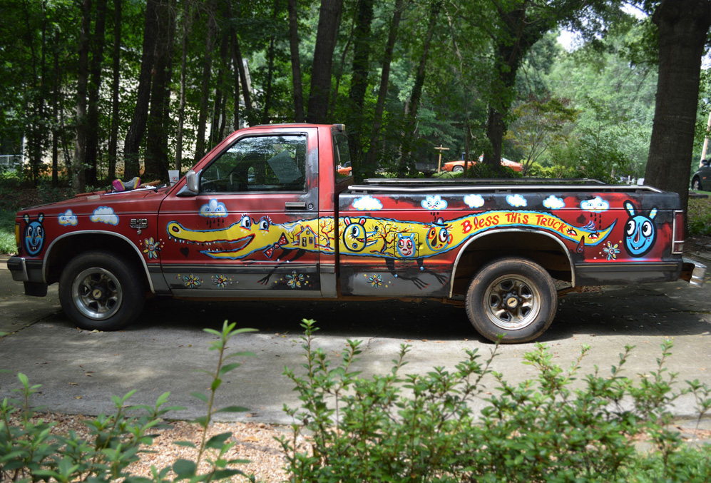 chevy S10 - folk art truck - 804 painted car blackcattips southern folk art alligator fayetteville brooksboy
