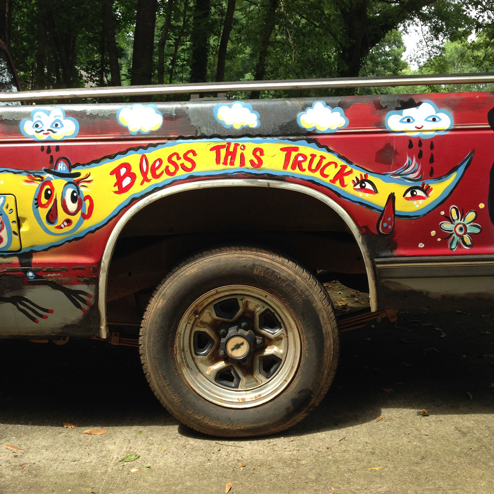 chevy S10 - folk art truck - 848 - bless this truck blackcattips brooksboy