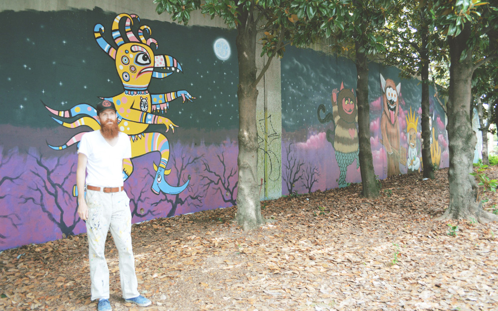 forward warrior 2015 - giant chicken man - 5 hopi - 2 mural cabbagetown atlanta where the wild things are streetfolk blackcattips