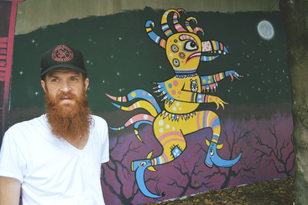 forward warrior 2015 - giant chicken man - 6 - blackcattips brooksboy kyle brooks art atlanta southern folk mural