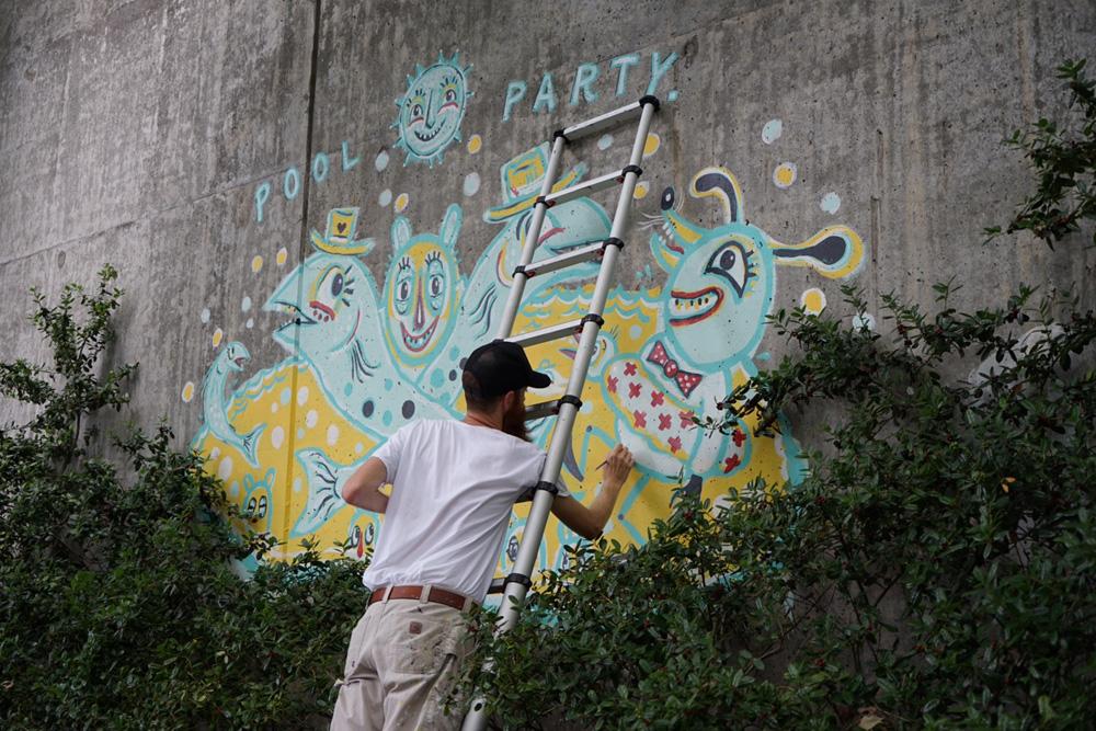 forward warrior 2015 - pool party - 12 mural public art atlanta blackcattips streetfolk painting