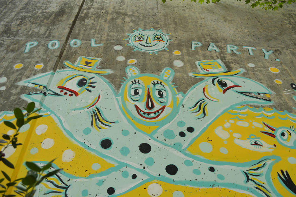 forward warrior 2015 - pool party - 7 mural public art atlanta blackcattips streetfolk