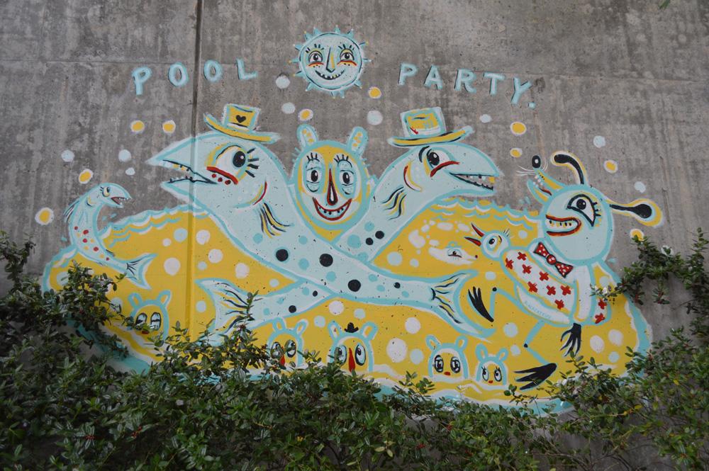 forward warrior 2015 - pool party - 9 mural public art atlanta blackcattips streetfolk estoria krog bears hi
