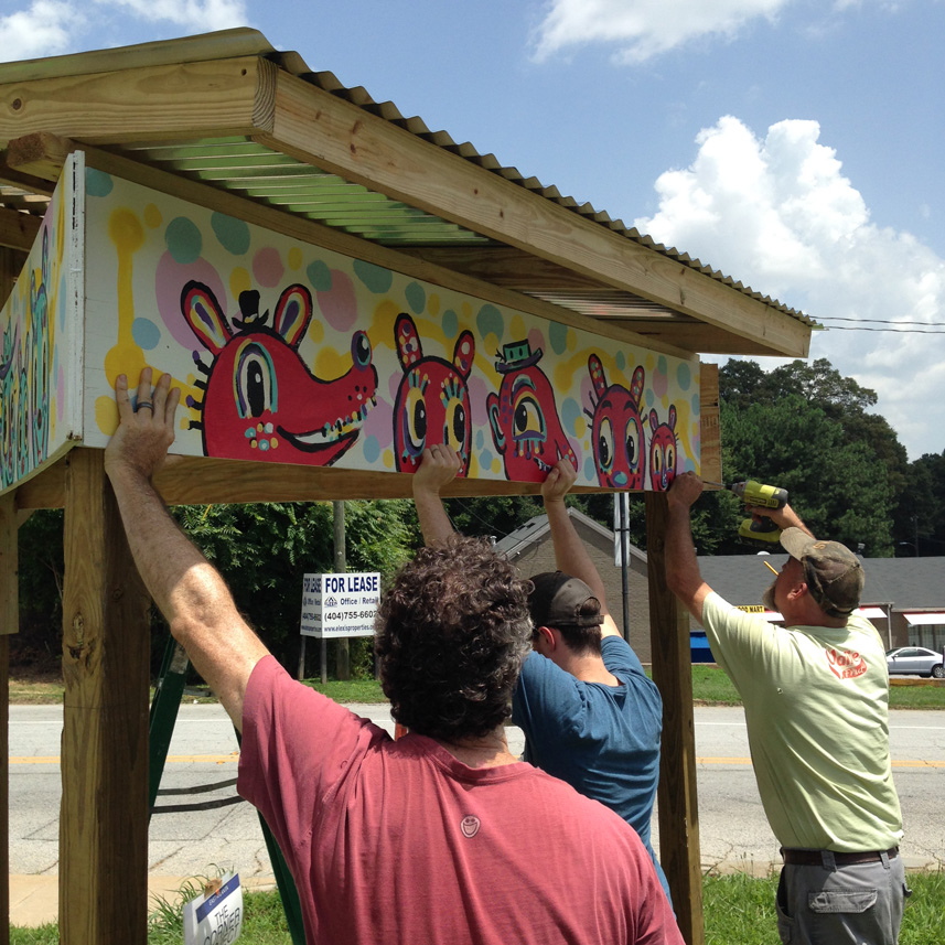 east atlanta corner project - blackcattips street folk art