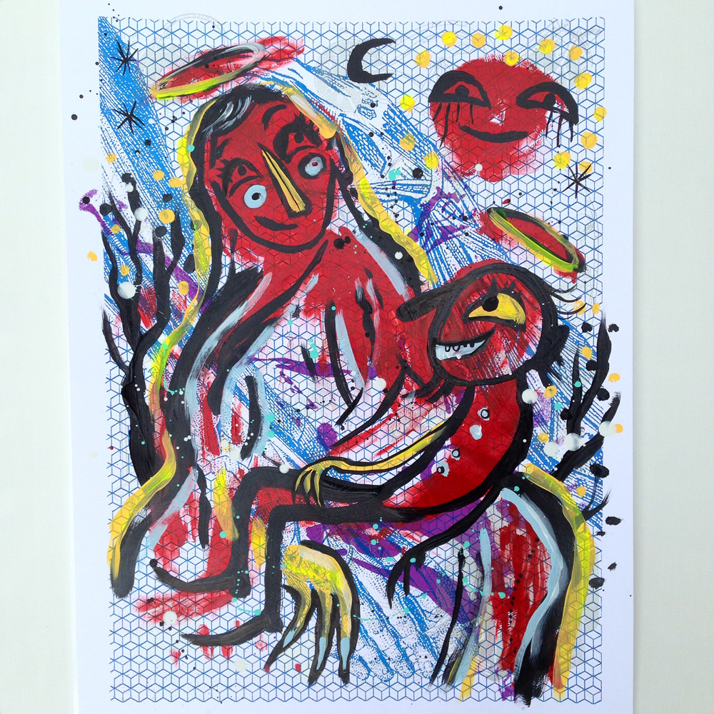inky-mixtape-print-collaboration-show-blackcattips-mother-mary-jesus-baby