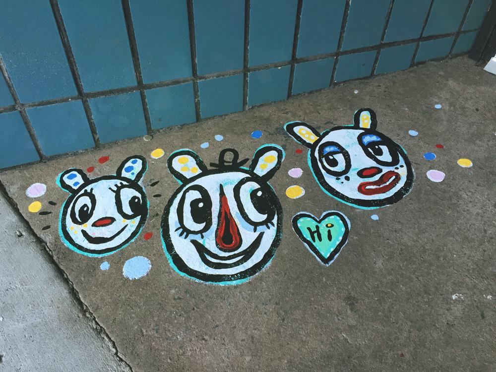 shear love painting 3blackcattips bears streetfolk art
