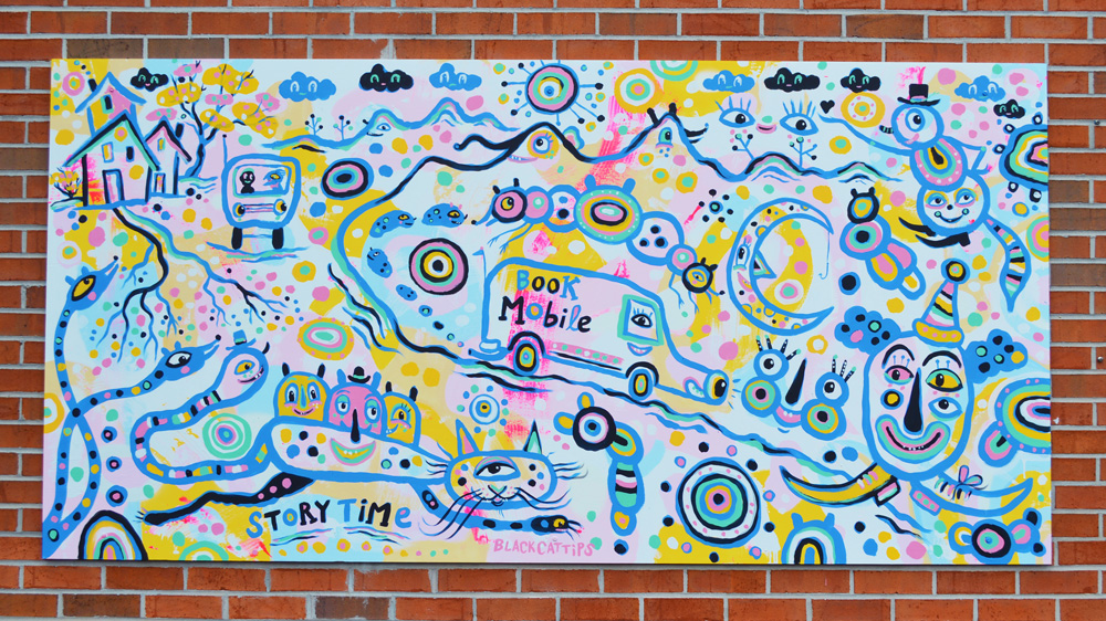 rabun-county-library-mini-mural-blackcattips-kyle-brooks-artclayton-georgia