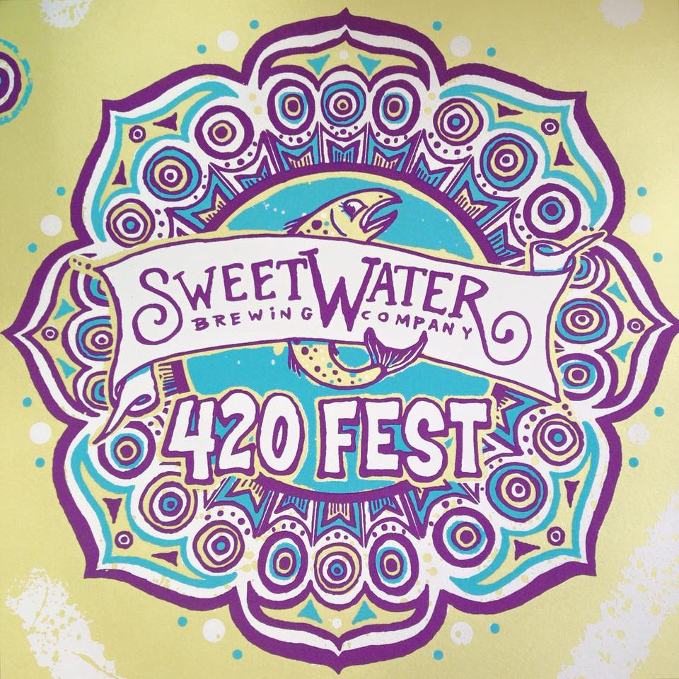 sweetwater 420 fest poster 2016 blackcattips kyle brooks 2
