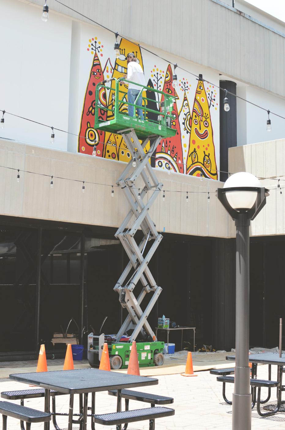 colony square mural - blackcattips - kyle brooks art atlanta