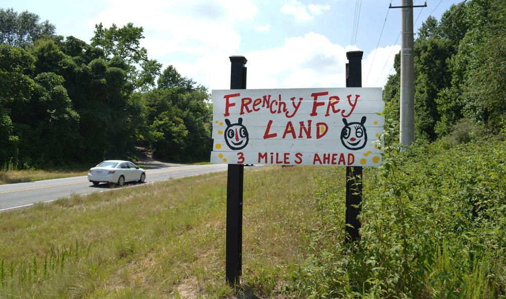 frenchy fry land - blackcattips - street folk art - roadside art
