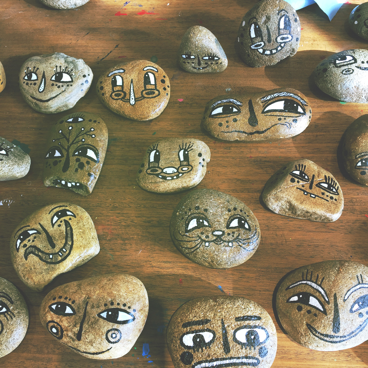 - BlackCatTips painted stones rocks faces.jpg -11