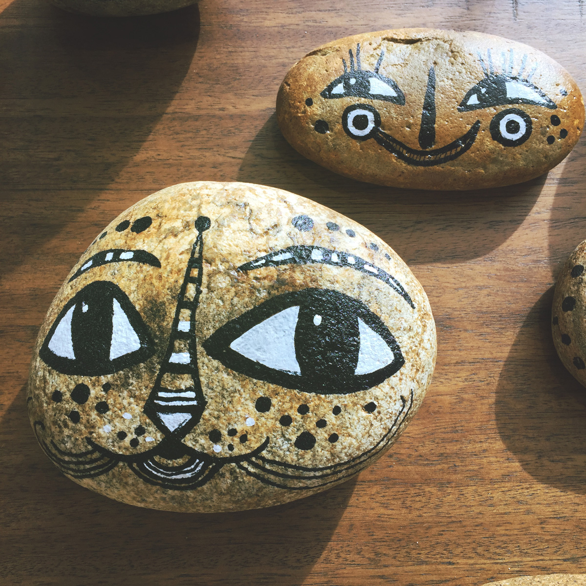 - BlackCatTips painted stones rocks faces.jpg -13