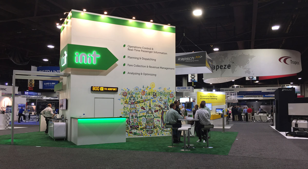 INIT USA at the APTA EXPO 20017 // Kyle BlackCatTips Brooks mural