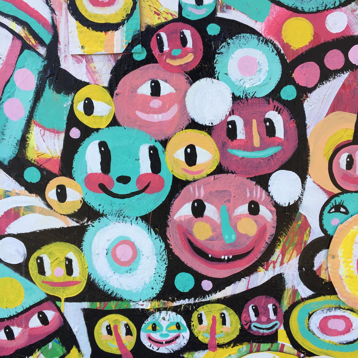 kyle BlackCatTips brooks art happy faces